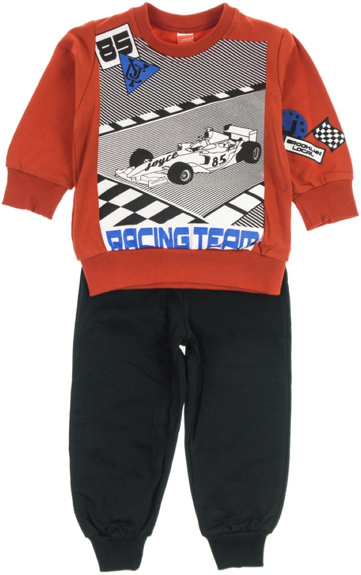 Joyce παιδικό εποχιακό σετ φόρμα μπλούζα-παντελόνι «Red Racing»