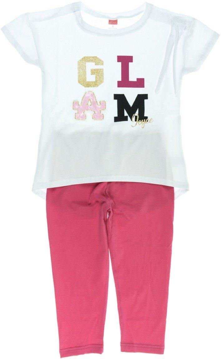 Joyce παιδικό σετ μπλούζα-παντελόνι κολάν κάπρι «Glam Girl»