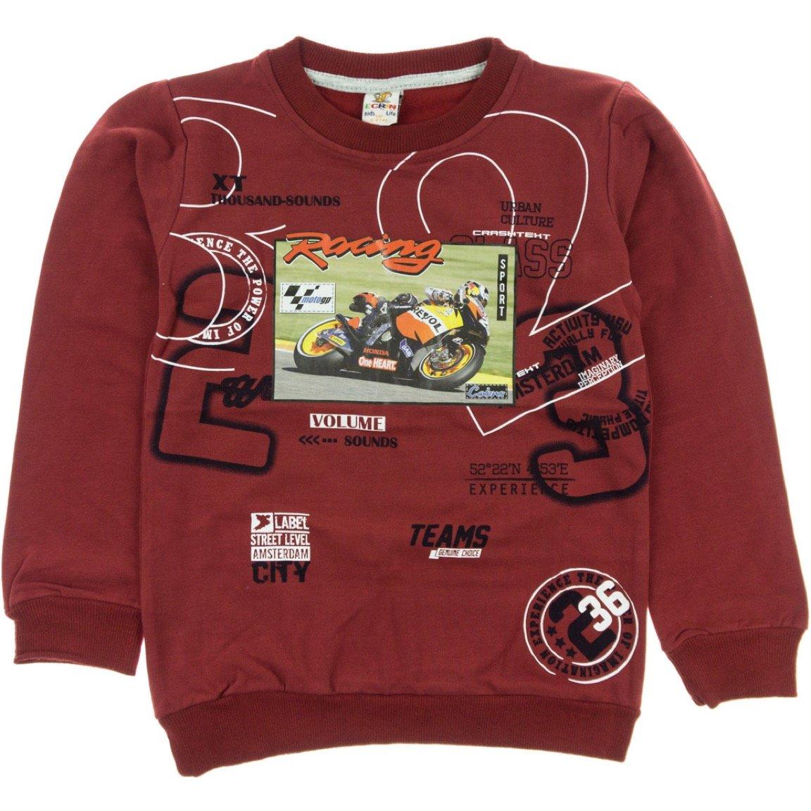 Ecrin παιδική εποχιακή φούτερ μπλούζα «Red Racing»