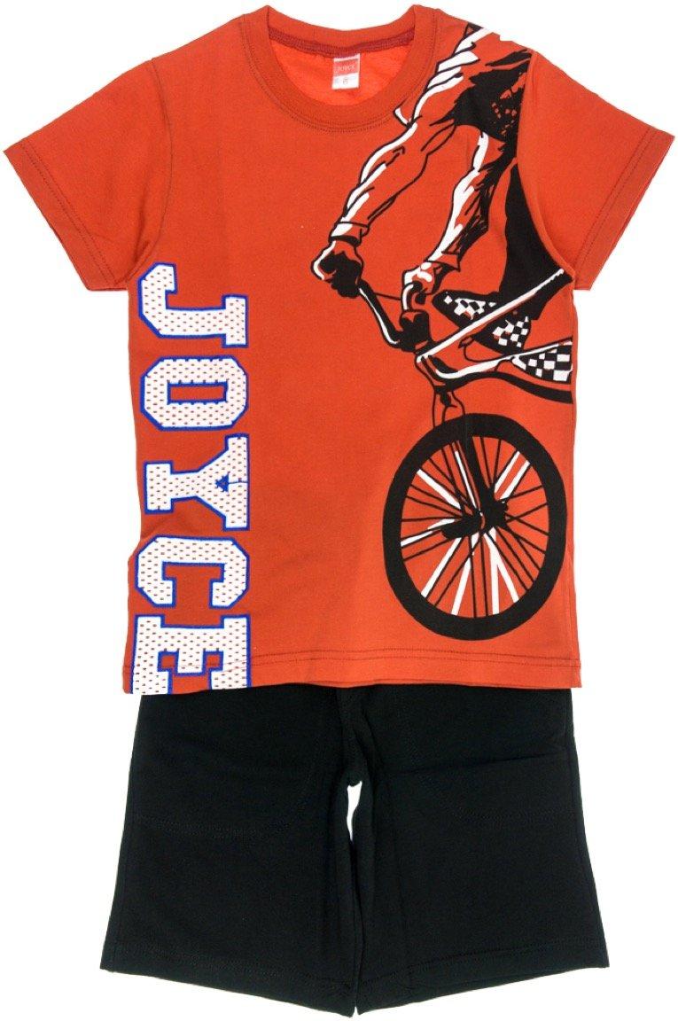 Joyce παιδικό σετ μπλούζα-παντελόνι βερμούδα «Red Bicycle»
