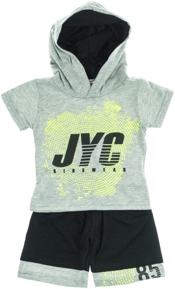 Joyce παιδικό σετ μπλούζα-παντελόνι βερμούδα «Grey Target»