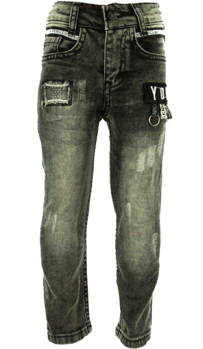 SLM παιδικό παντελόνι τζιν «You in Black»