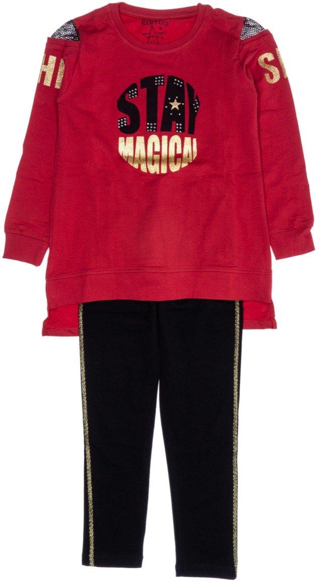Εβίτα παιδικό εποχιακό σετ μπλούζα-παντελόνι κολάν «Magical»