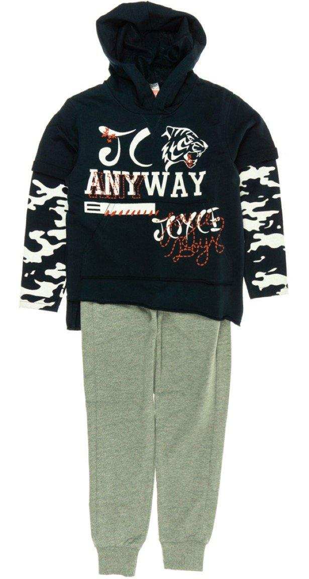 Joyce παιδικό εποχιακό σετ φόρμα μπλούζα-παντελόνι «Anyway»