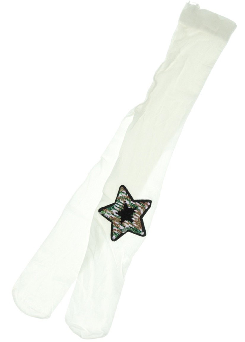 Bella Calze παιδικό καλσόν «Ecru Colorful Star»