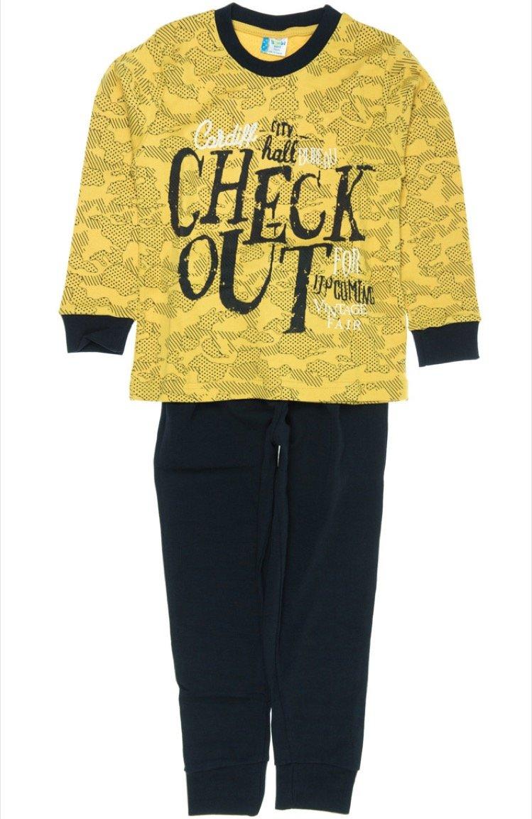 Bimbi Boys παιδική εποχιακή πιτζάμα «Check Out»