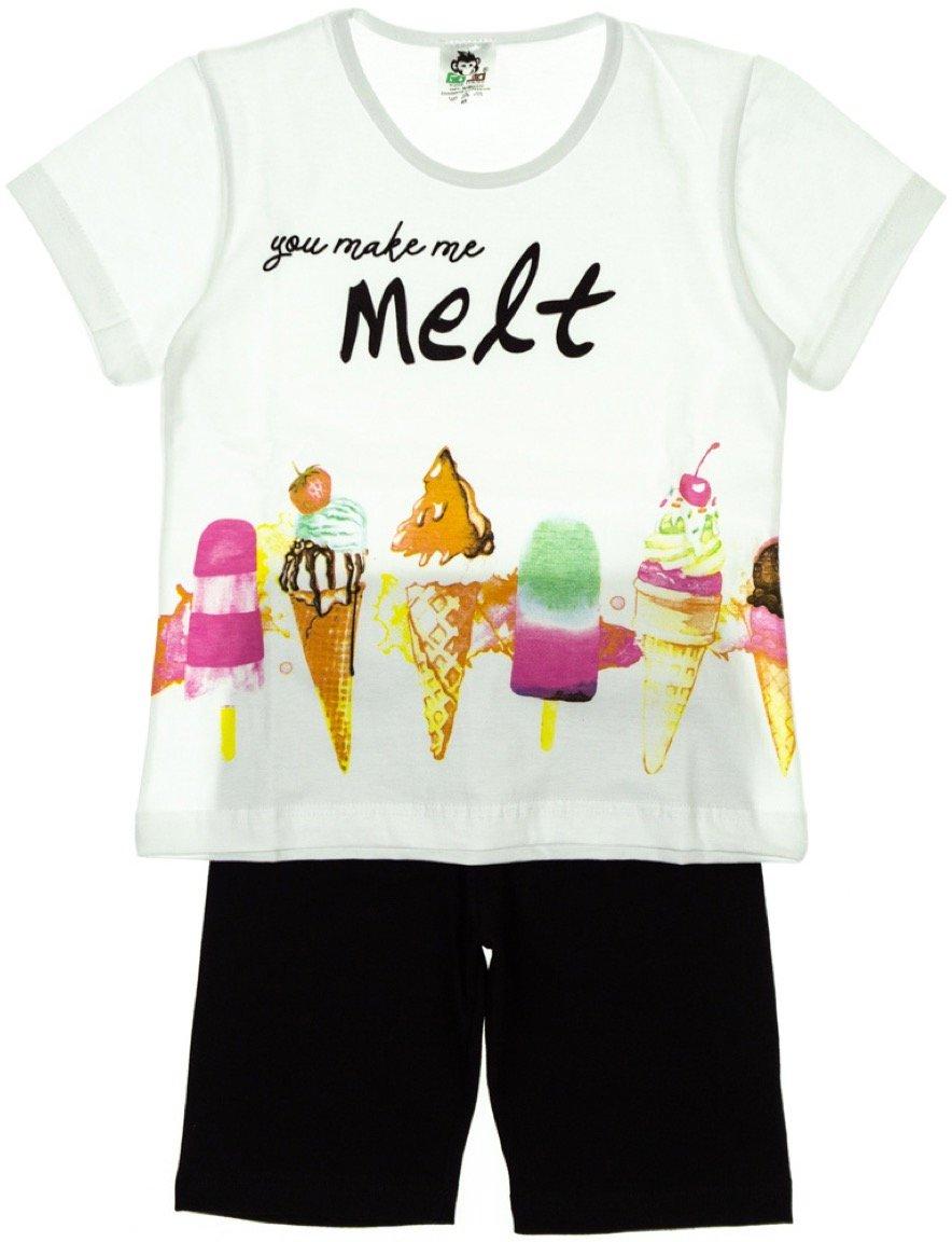 Go Jo παιδικό σετ μπλούζα-παντελόνι σορτς «I Melt»