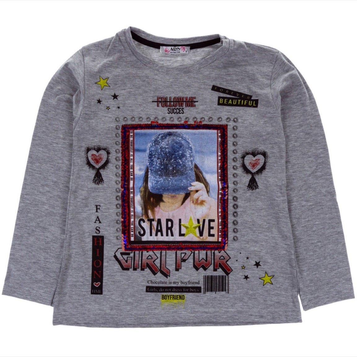 ARS παιδική εποχιακή μπλούζα «Girl Power»