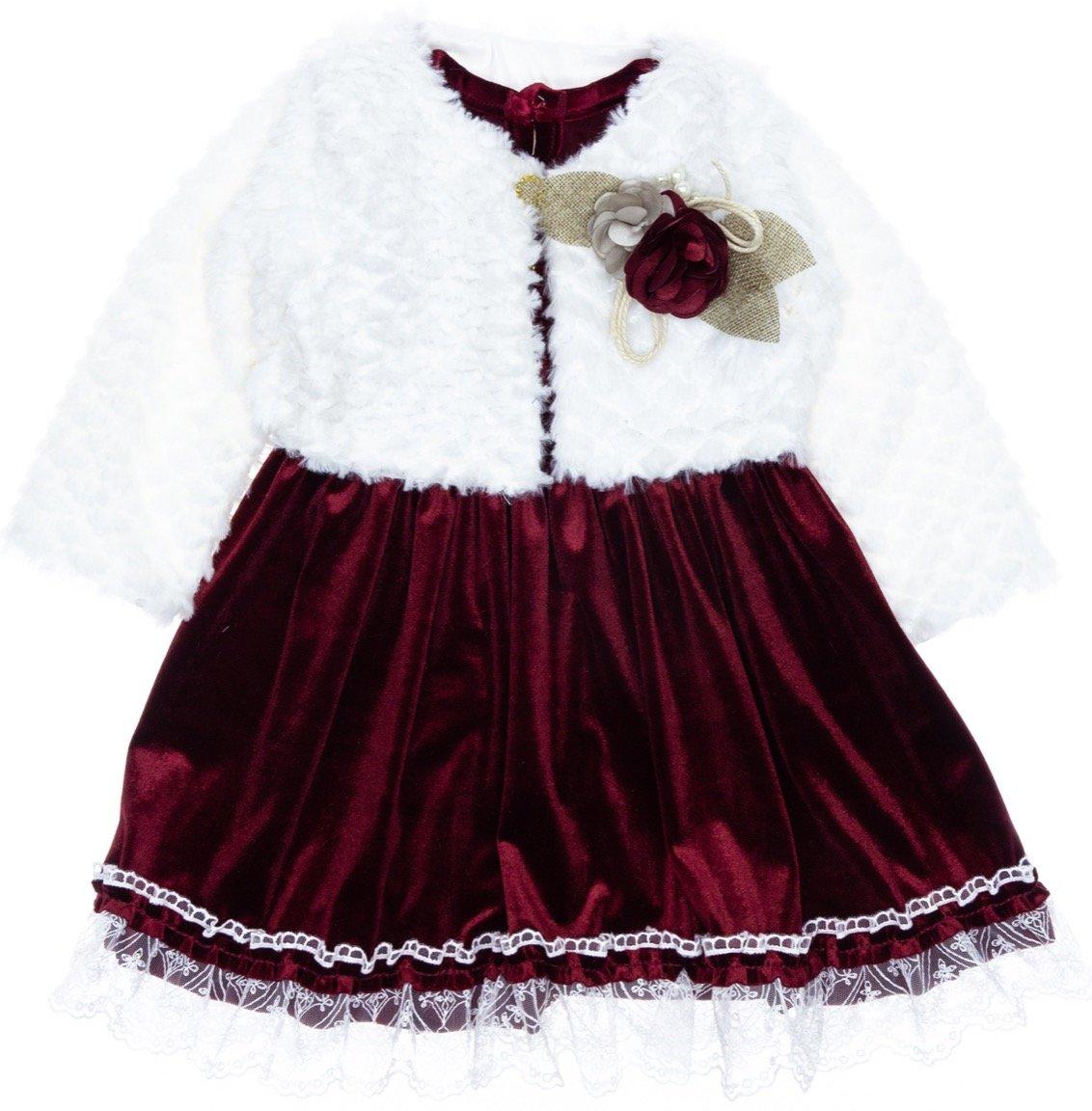 GVN παιδικό αμπιγιέ φόρεμα και μπολερό «Velvet»