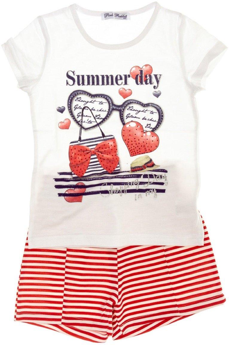 Pink Rabbit παιδικό σετ μπλούζα-παντελόνι σορτς «The Summer Day»