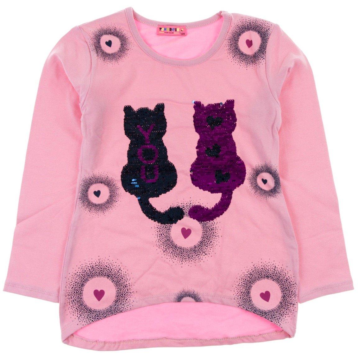 Tomurcuk παιδική μπλούζα «Pink Cats in Love»