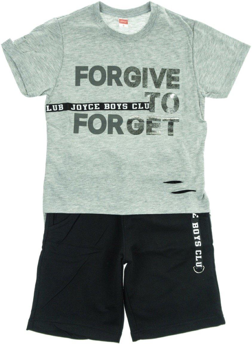 Joyce παιδικό σετ μπλούζα-παντελόνι βερμούδα «Forgive»