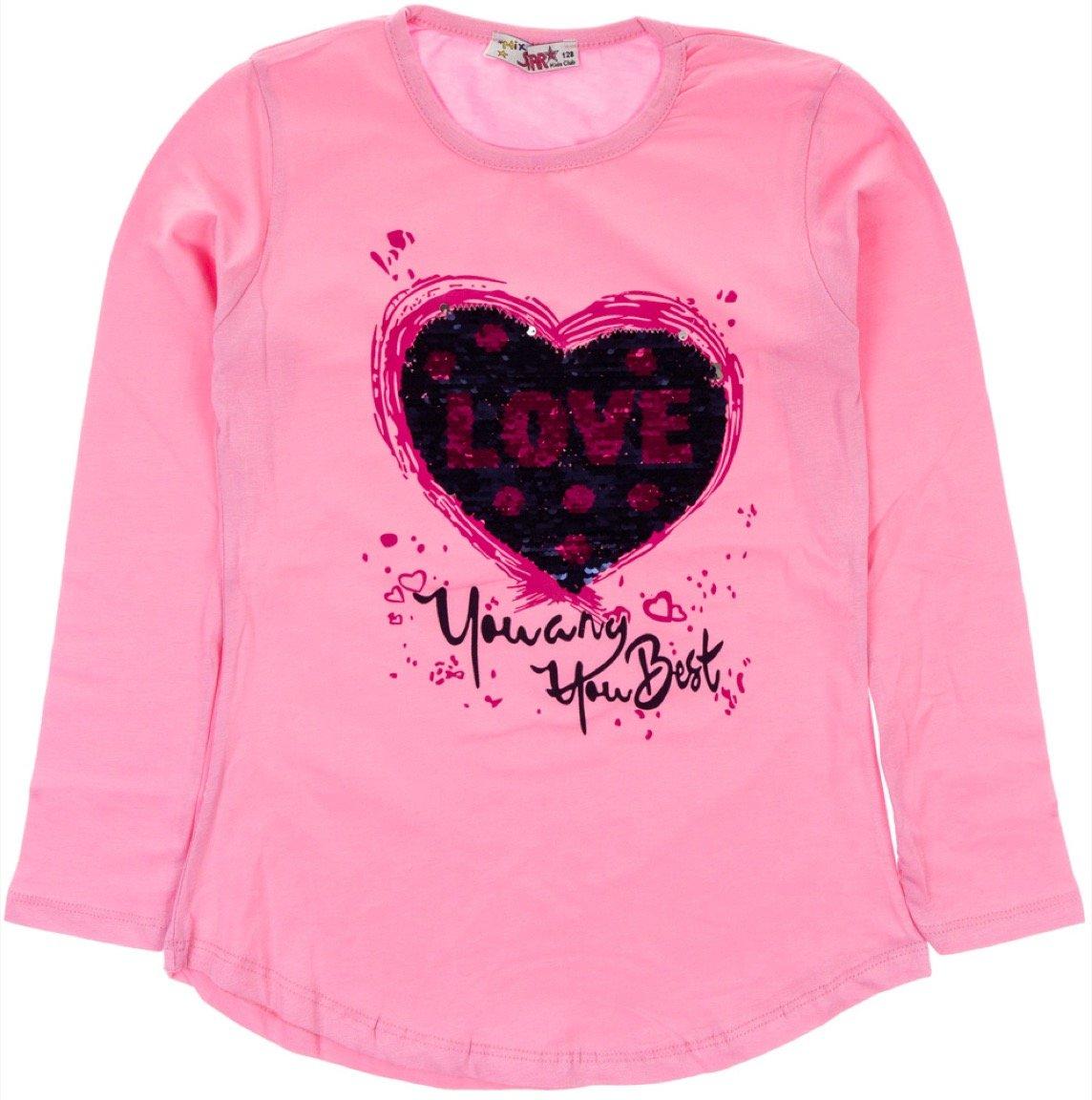 Mix Star παιδική εποχιακή μπλούζα «Pink Best Love»