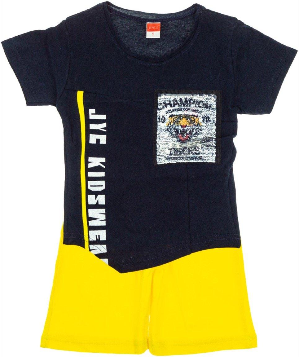 Joyce παιδικό σετ μπλούζα-παντελόνι βερμούδα «Hard Play»