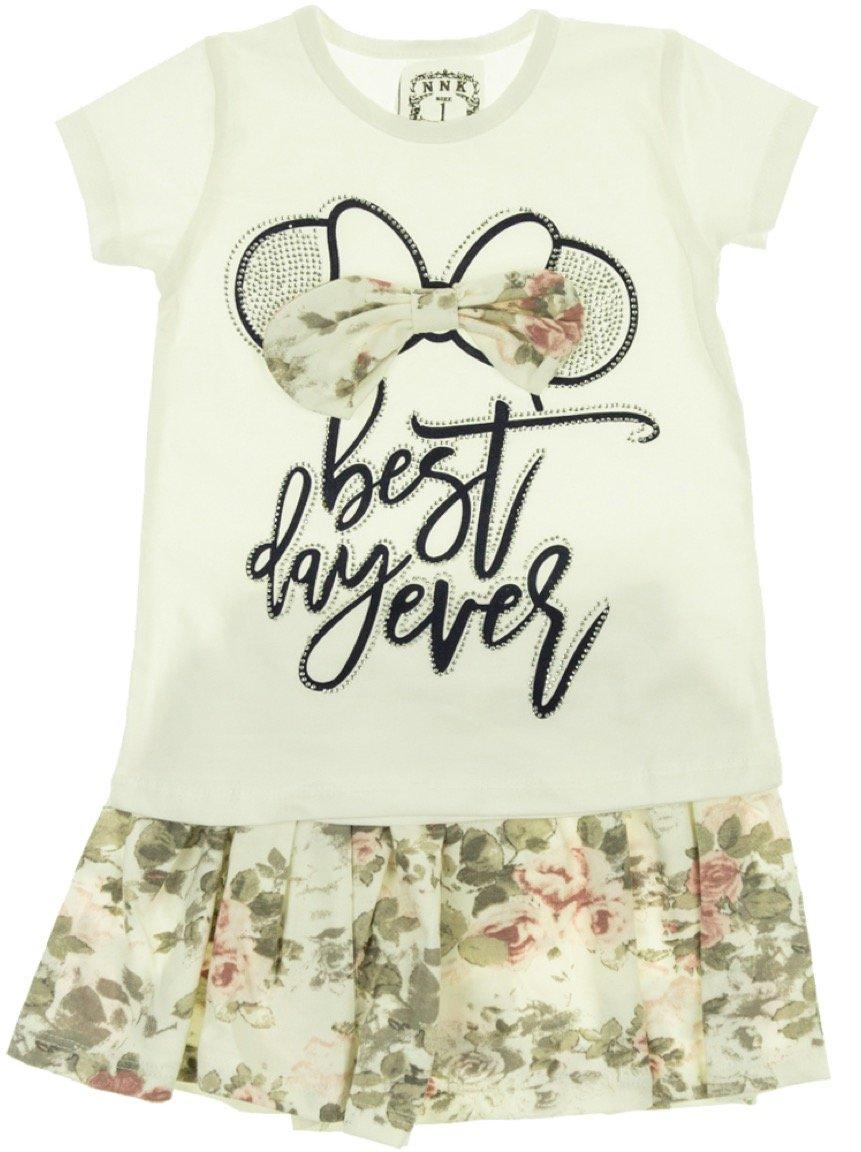 NNK Exclusive παιδικό σετ μπλούζα-φούστα «Best Day»