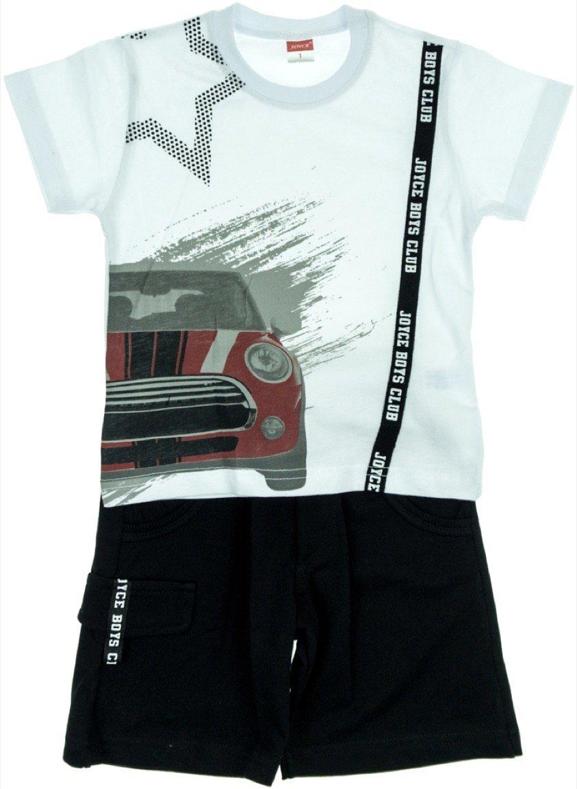 Joyce παιδικό σετ μπλούζα-παντελόνι σορτς «My Mini Car»