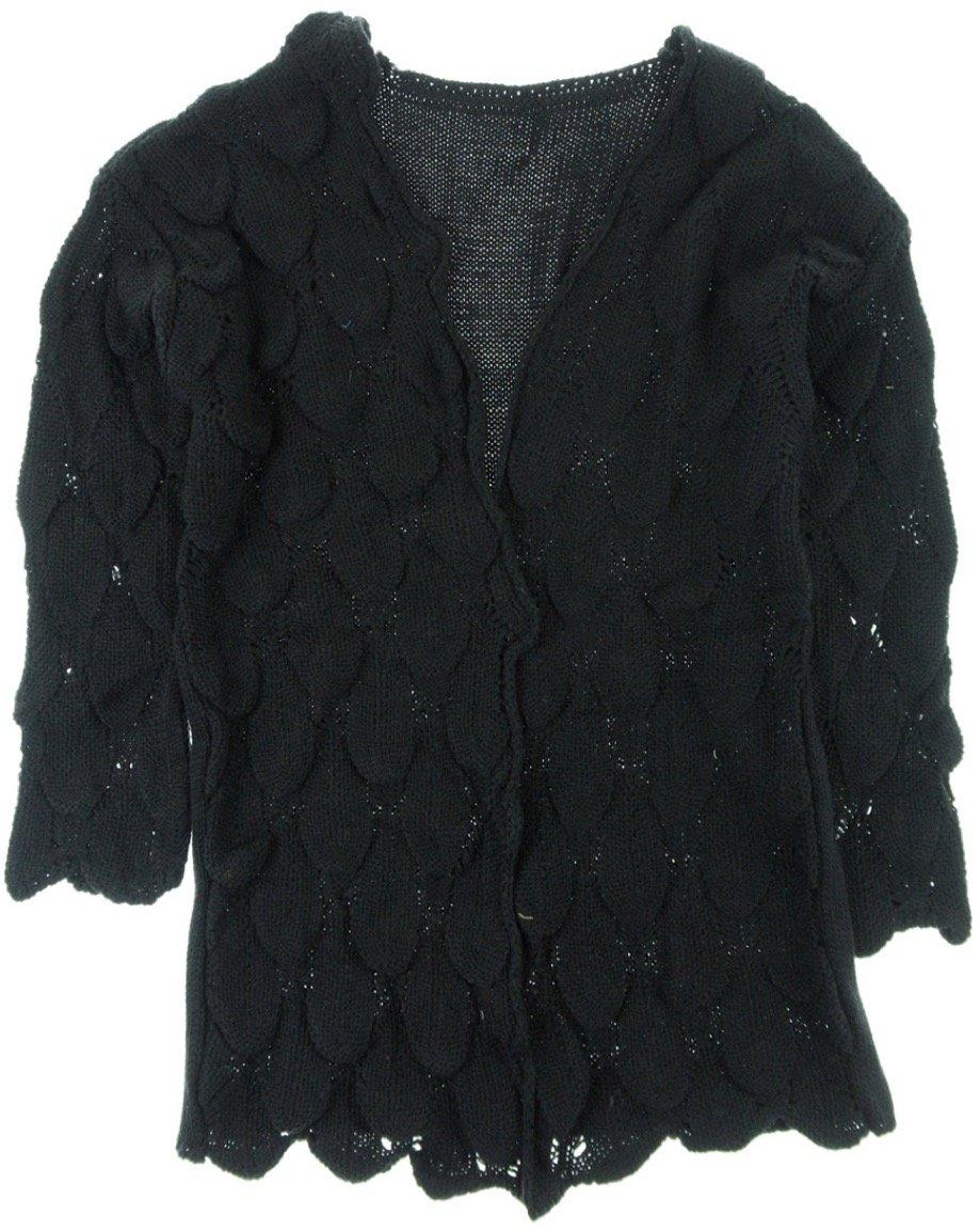 ΑΖ γυναικεία πλεκτή zακέτα «Black Weaving»