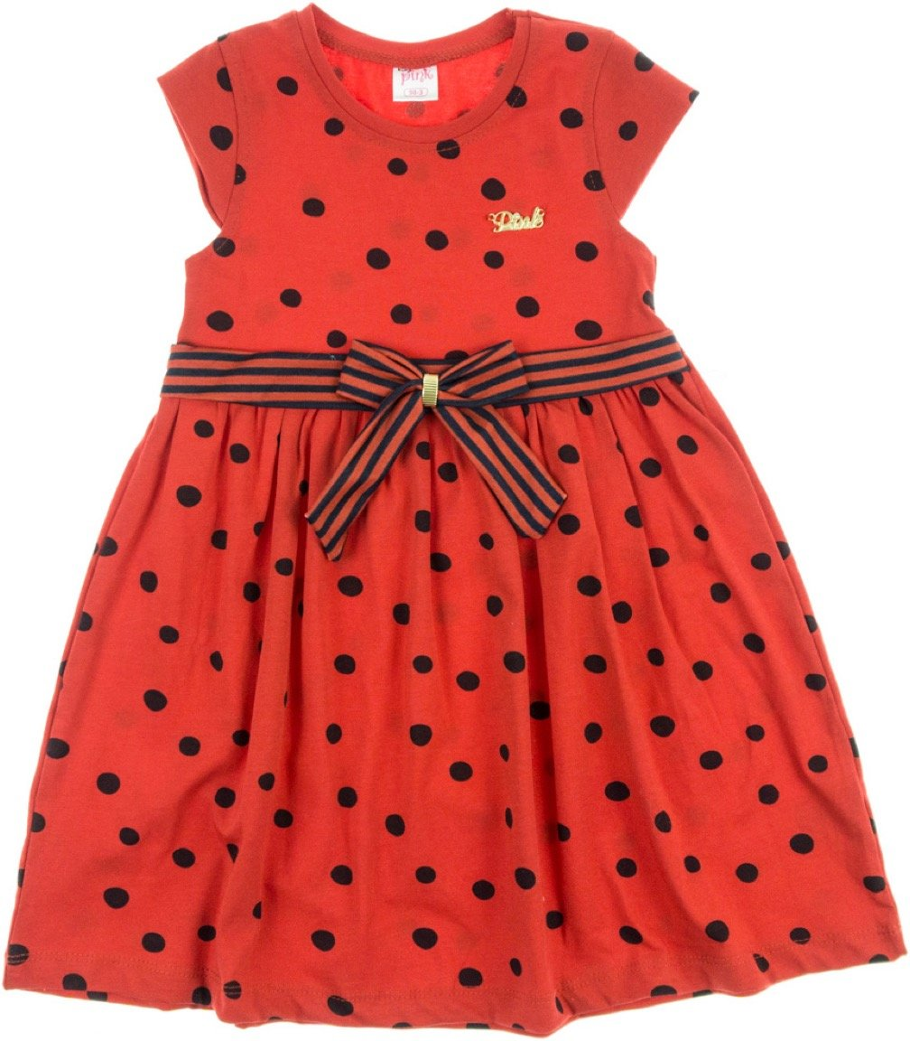 Baby Pink παιδικό φόρεμα «Lady Dot in Red»