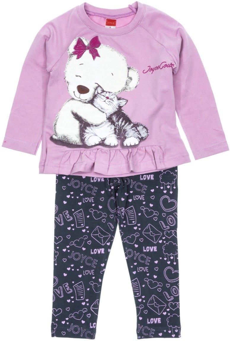 Joyce παιδικό εποχιακό σετ μπλούζα-παντελόνι κολάν «Cute Hugs»