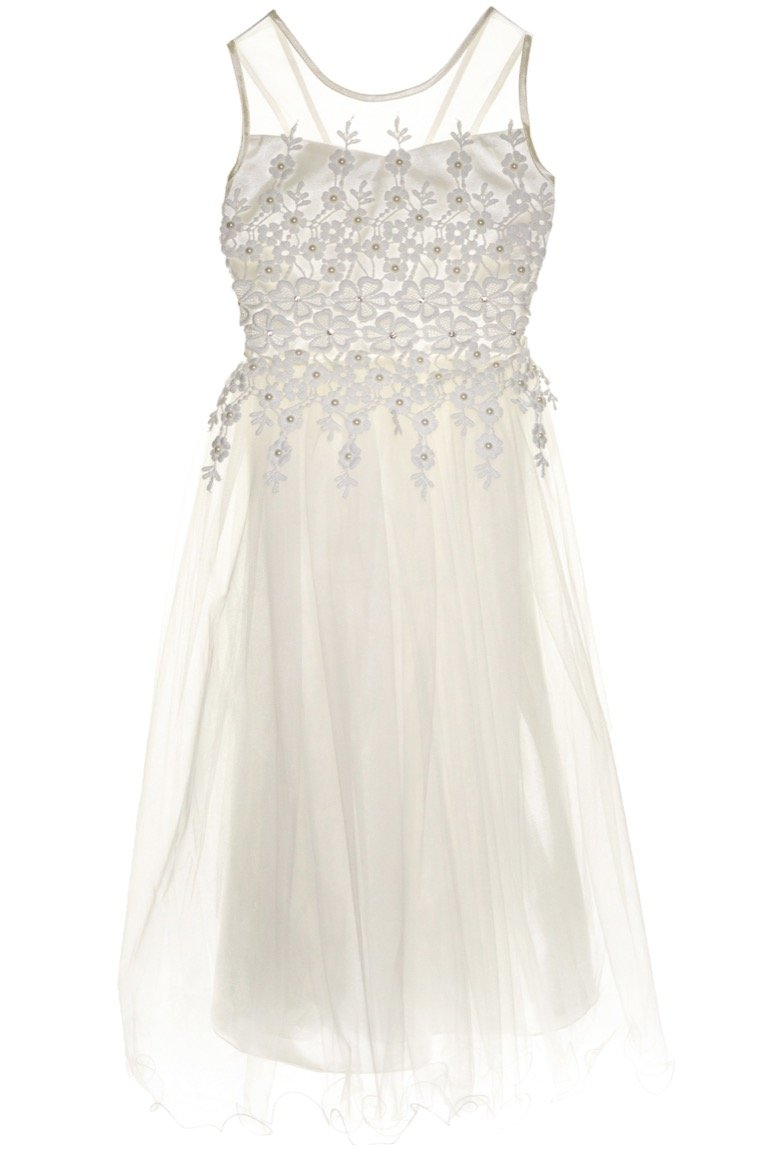 Ken Club παιδικό αμπιγιέ φόρεμα «Ivory Royal Roxette»