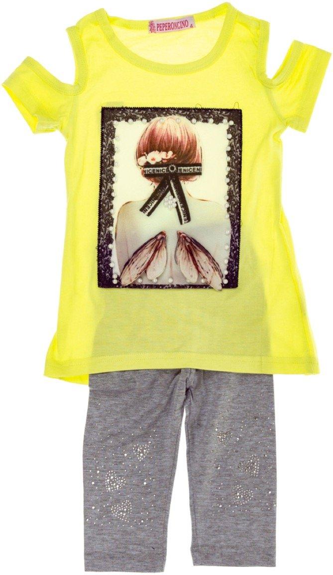 Peperoncino παιδικό σετ μπλούζα-παντελόνι κολάν κάπρι «Wings 3D»