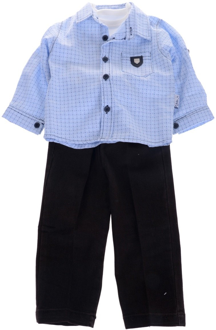 Cikko βρεφικό εποχιακό σετ πουκάμισο-μπλούζα-παντελόνι «Havana»