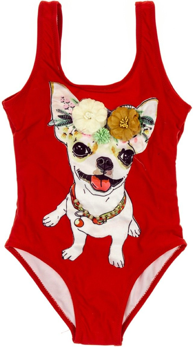 Sweet Secret παιδικό μαγιό ολόσωμο «Red Dog»