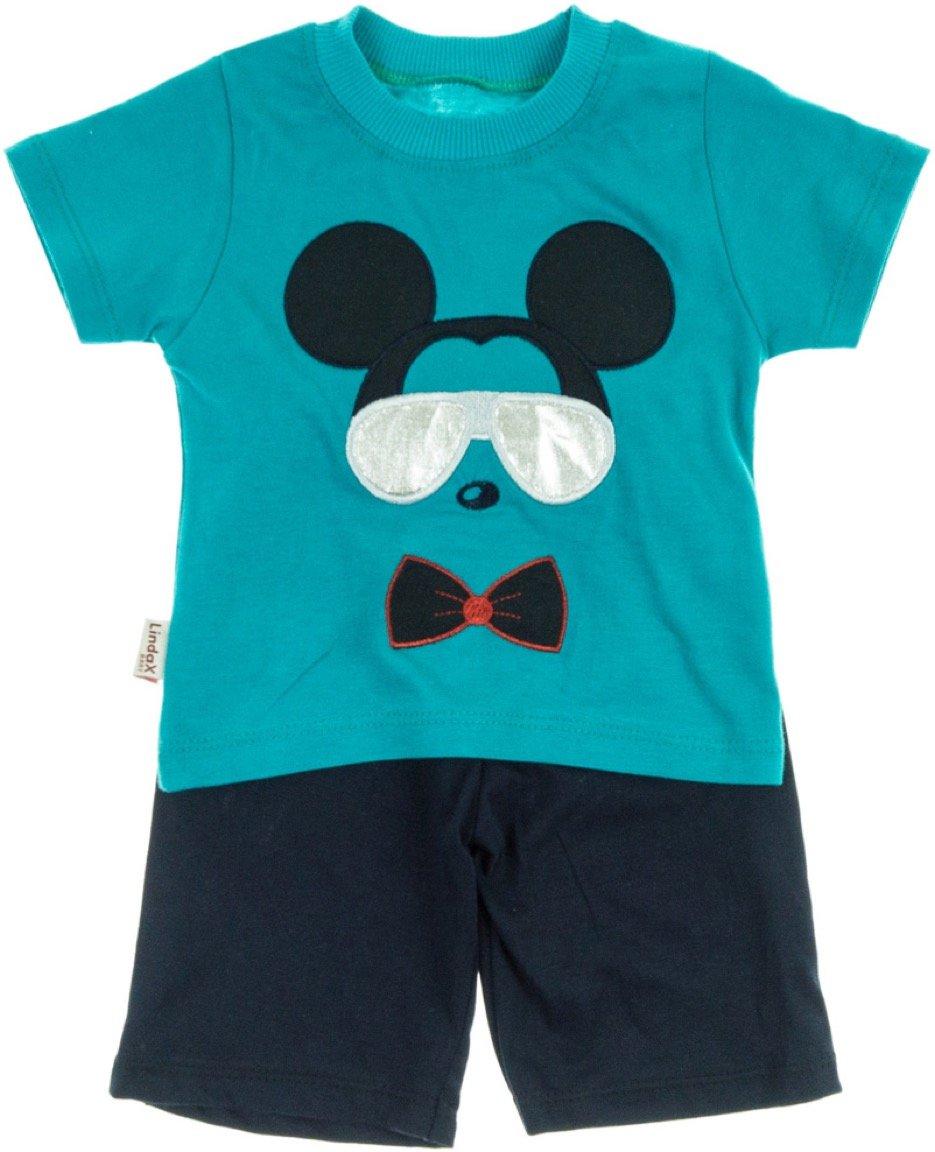 Lindax βρεφικό σετ μπλούζα-παντελόνι βερμούδα «The Mouse»