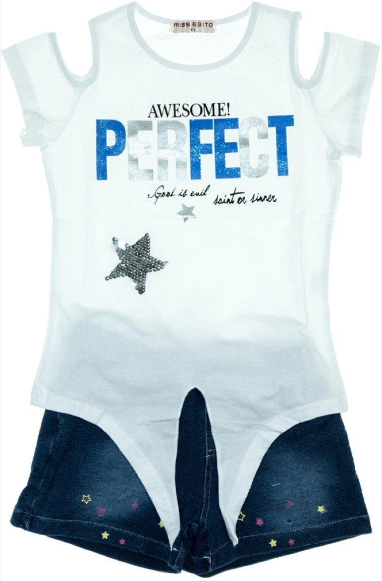 Εβίτα παιδικό σετ μπλούζα-παντελόνι σορτς «Perfect»