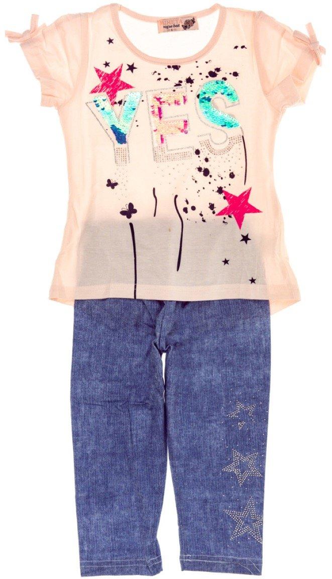 Miheta παιδικό σετ μπλούζα-παντελόνι κολάν κάπρι «Just Yes»