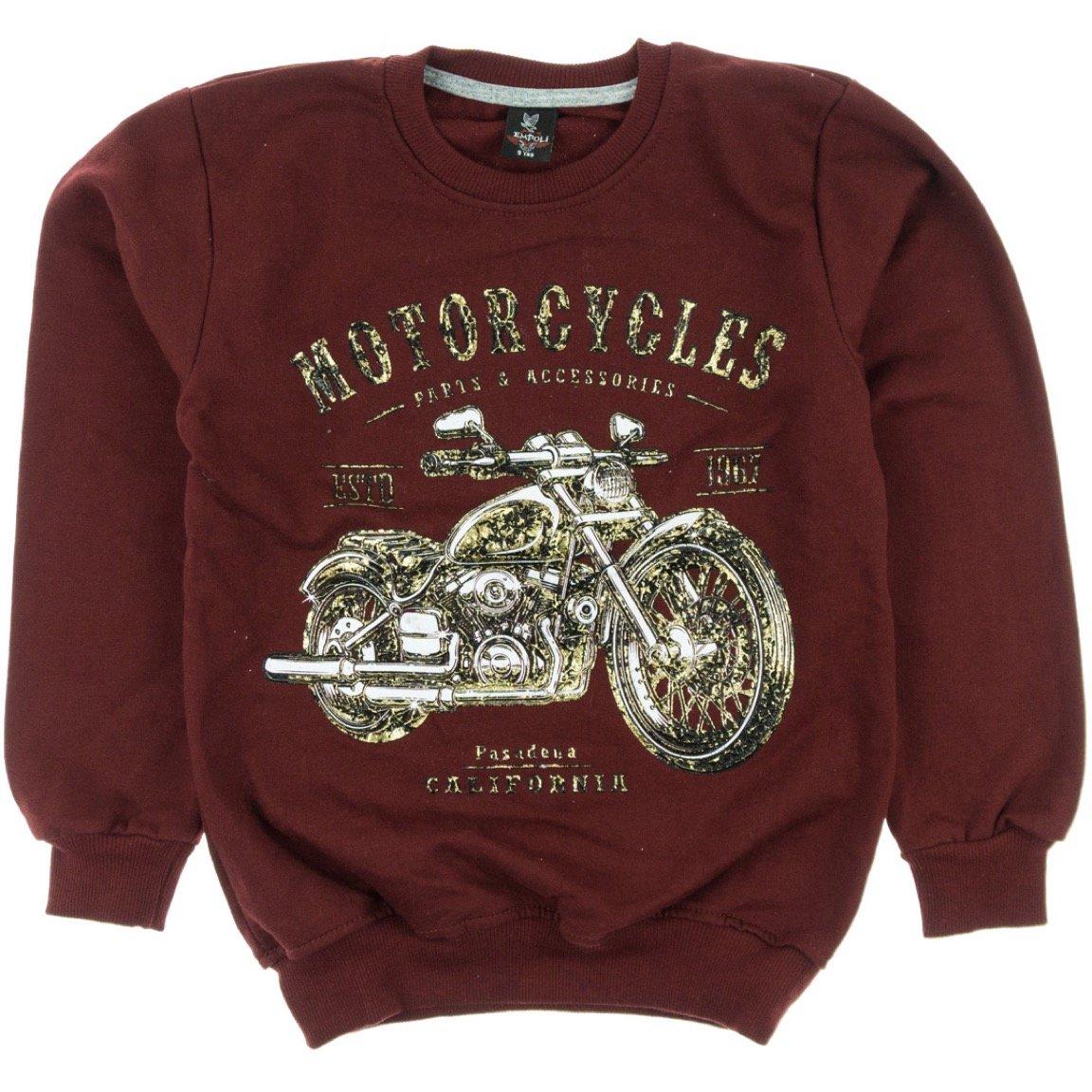 Empoli παιδική μπλούζα φούτερ «Red Motorcycles»