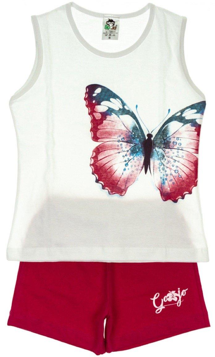 Go Jo παιδικό σετ μπλούζα-παντελόνι σορτς «Butterfly Effect»