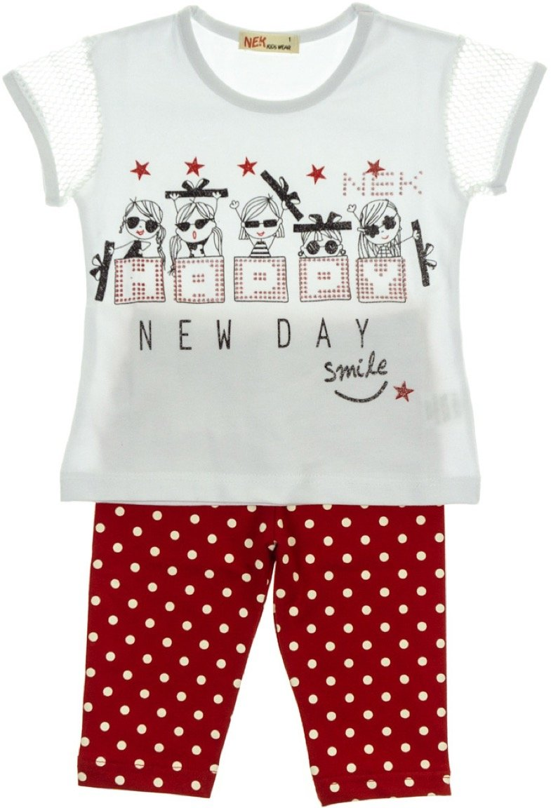 Nek παιδικό σετ μπλούζα-παντελόνι κολάν κάπρι «New Day»