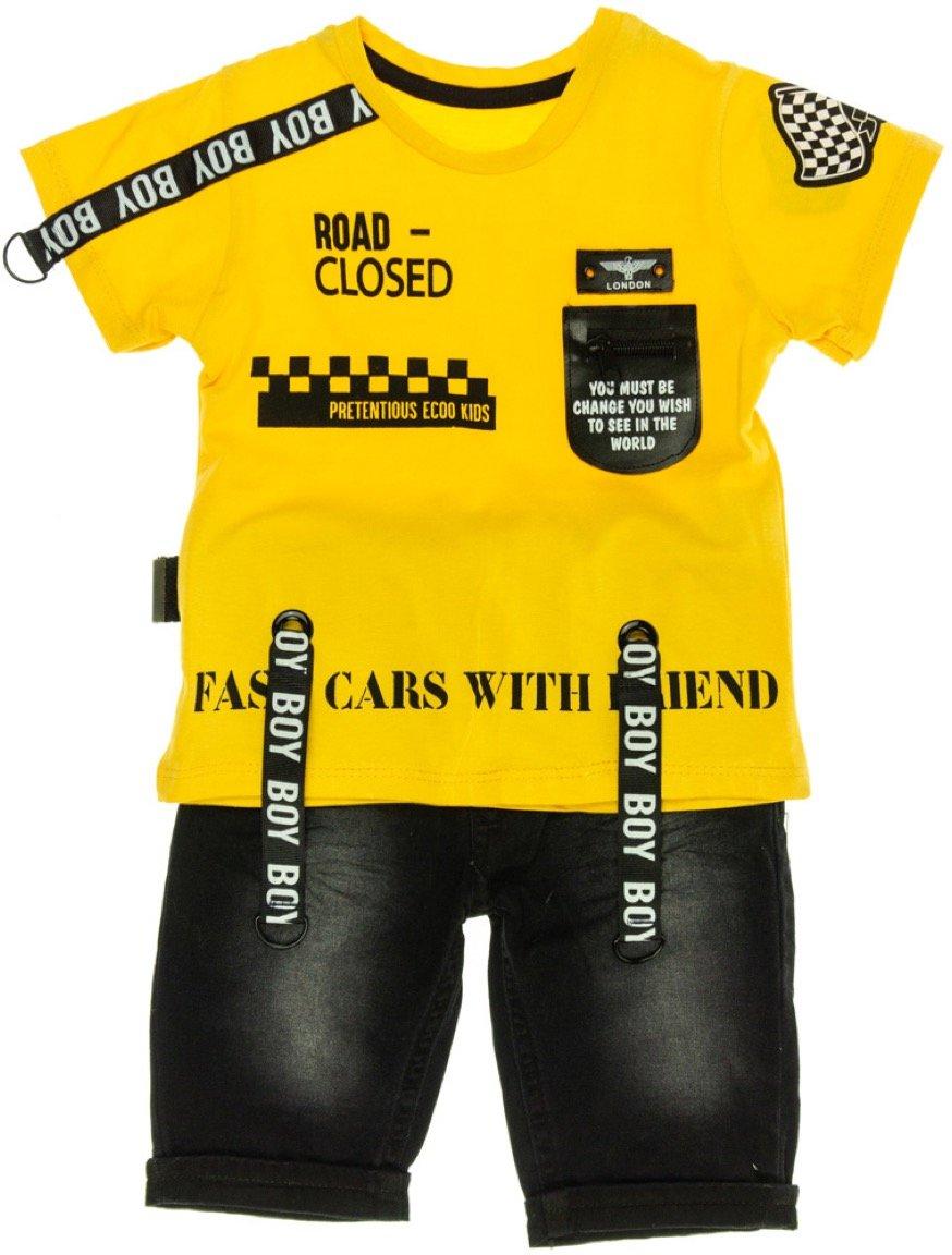 Ecoo παιδικό σετ μπλούζα-παντελόνι βερμούδα «Closed Road»