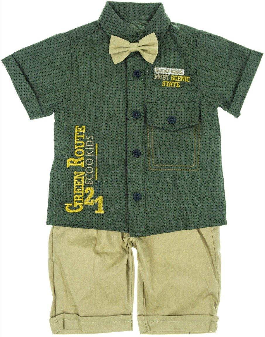 Kids Bom παιδικό σετ παντελόνι-πουκάμισο-παπιγιόν
