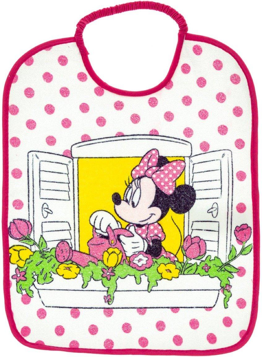 Disney βρεφική σαλιάρα φαγητού «Minnie's Fuchsia Balcony»