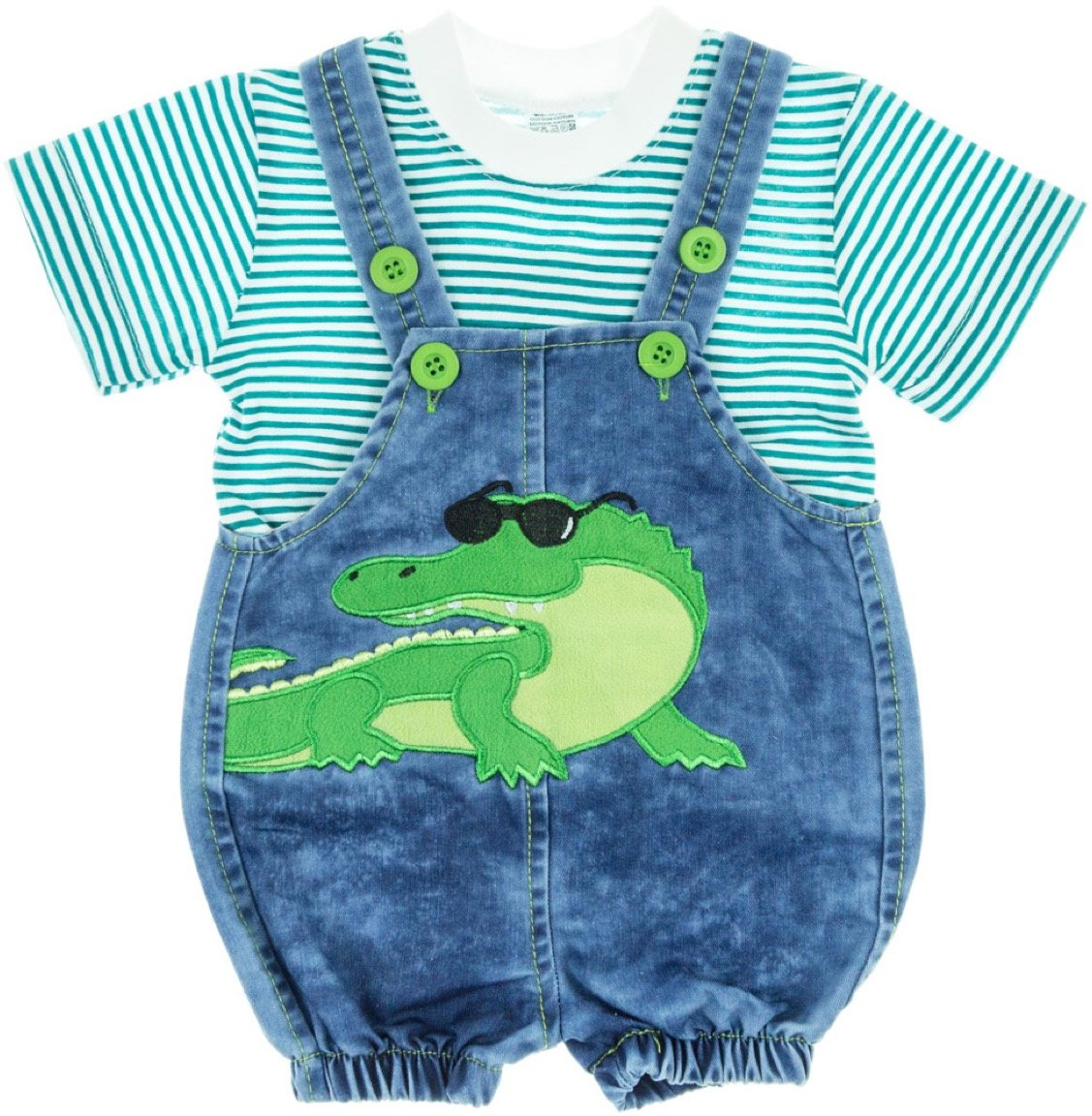 Be&En βρεφικό σετ μπλούζα-σαλοπέτα «Crocodile»