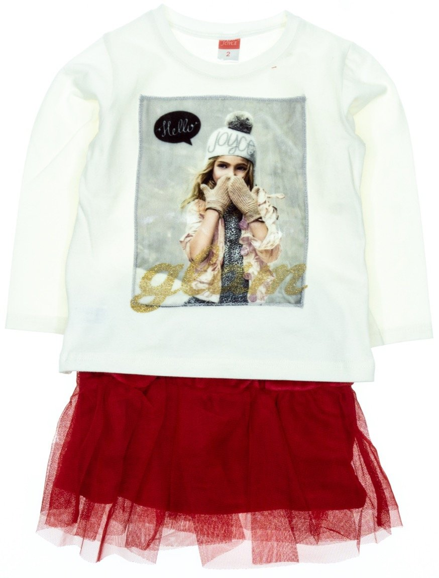 Joyce παιδικό σετ μπλούζα-φούστα «Glam»