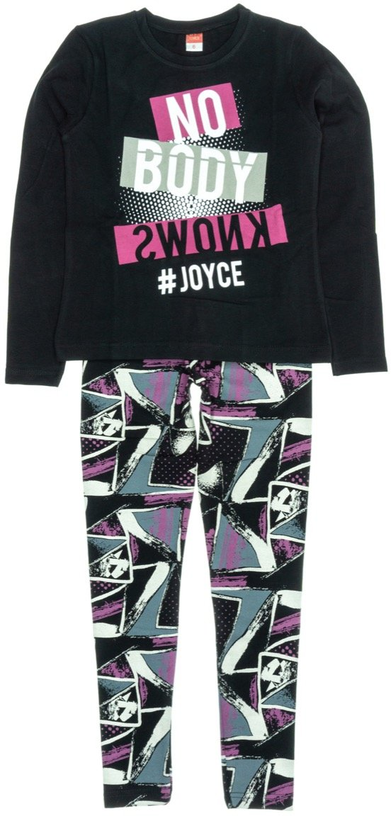 Joyce παιδικό εποχιακό σετ μπλούζα-παντελόνι κολάν «Nobody»