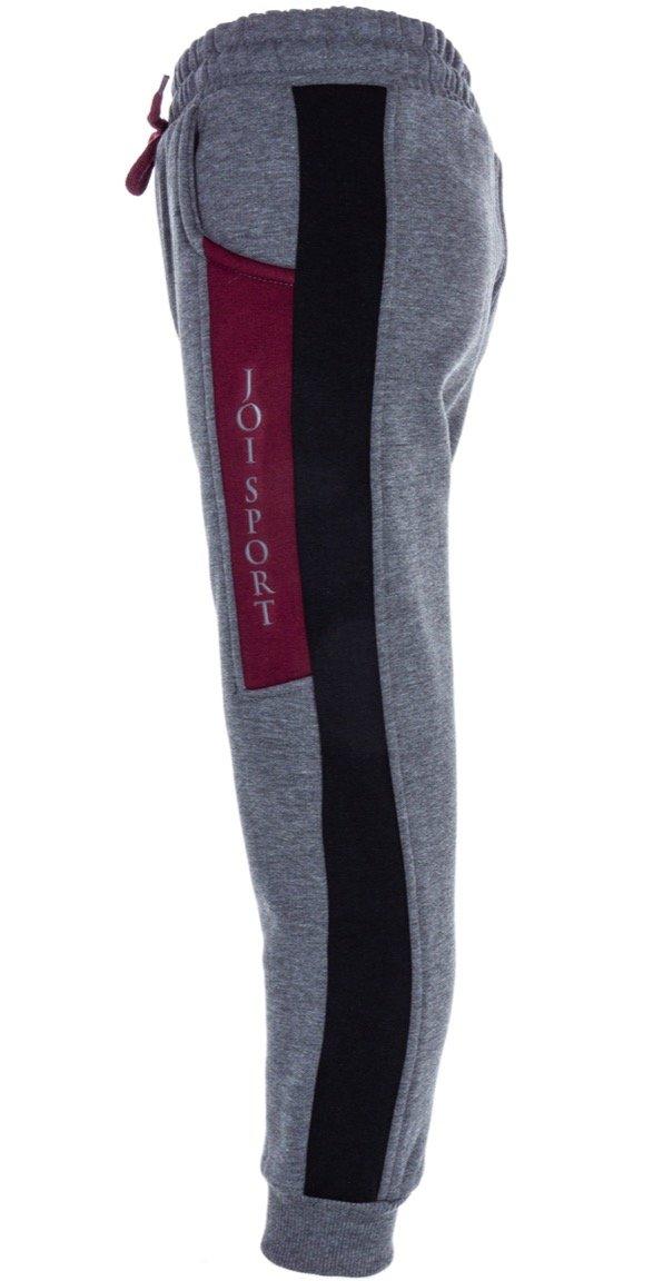 Joi παιδικό παντελόνι φόρμας «Grey Bordo Repousse»