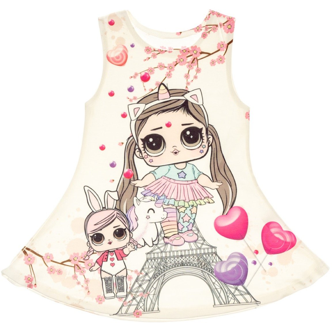 AZ παιδικό φόρεμα «LOL & Unicorn»