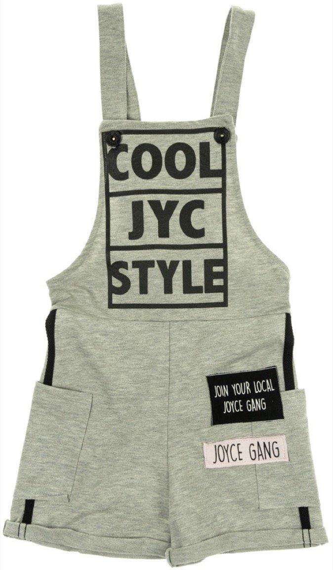 Joyce παιδικό ολόσωμο παντελόνι σαλοπέτα «Grey Cool Style»