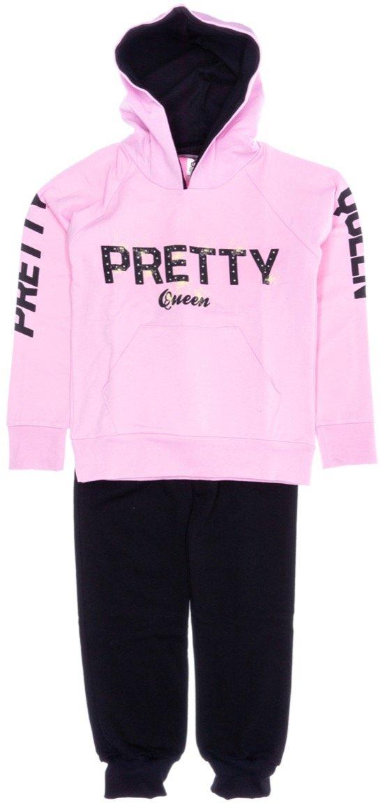 Go Jo παιδικό σετ φόρμα μπλούζα-παντελόνι «Pretty Queen»