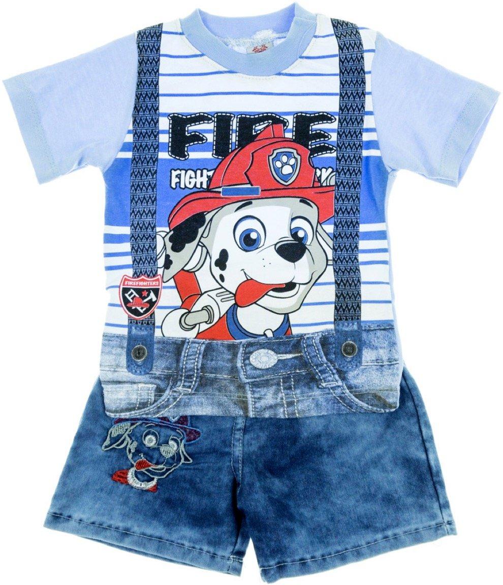 Bombicix παιδικό σετ μπλούζα-παντελόνι σορτς «Fire Fighter»