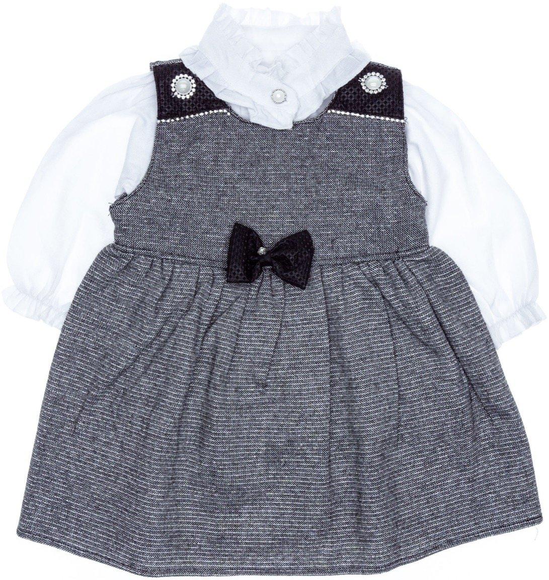 Bebemania βρεφικό φόρεμα και πουκάμισο «Lady Bow»