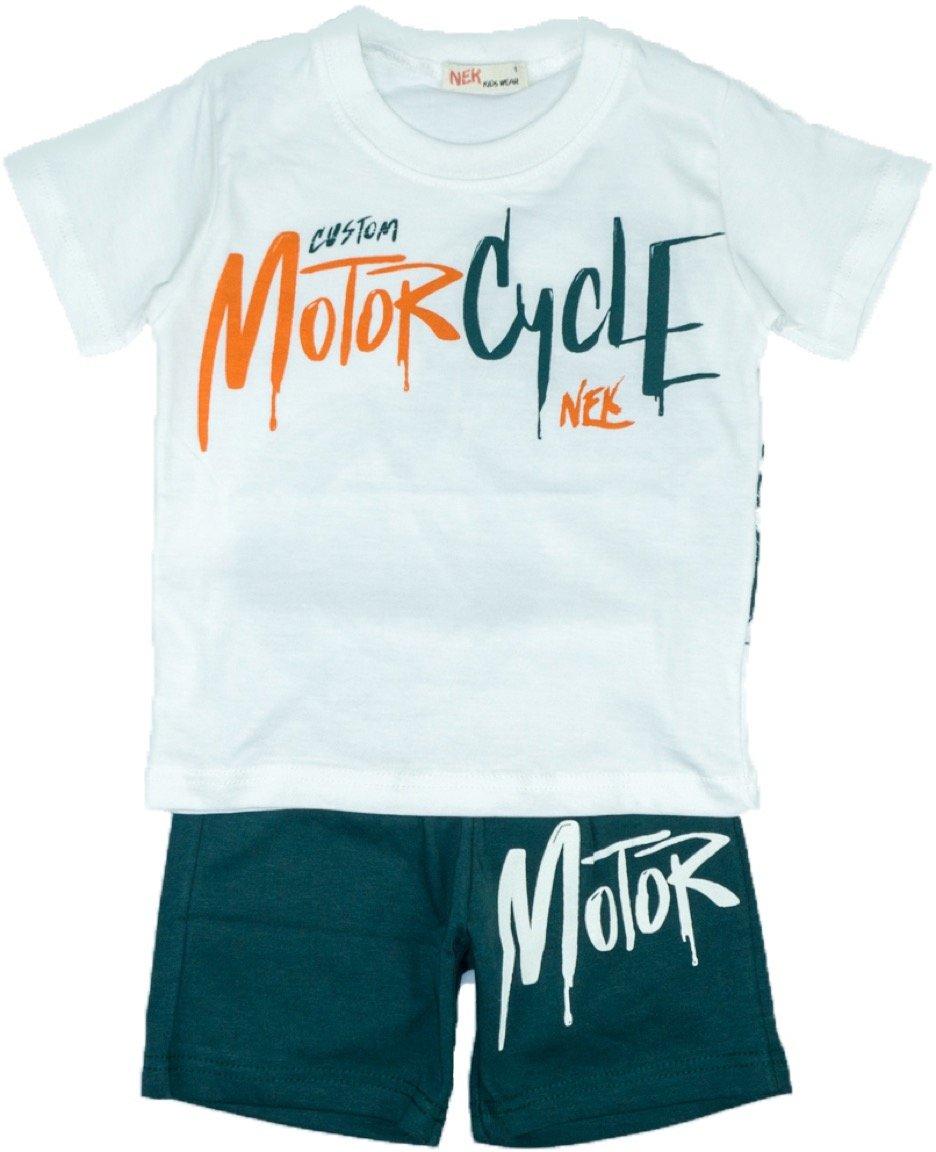 Nek παιδικό σετ μπλούζα-παντελόνι σορτς «Motorcycle»