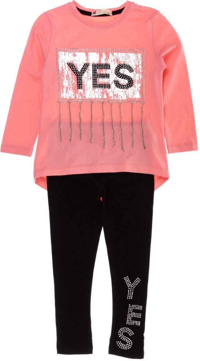 Pengim παιδικό εποχιακό σετ μπλούζα-παντελόνι κολάν «Say Yes»