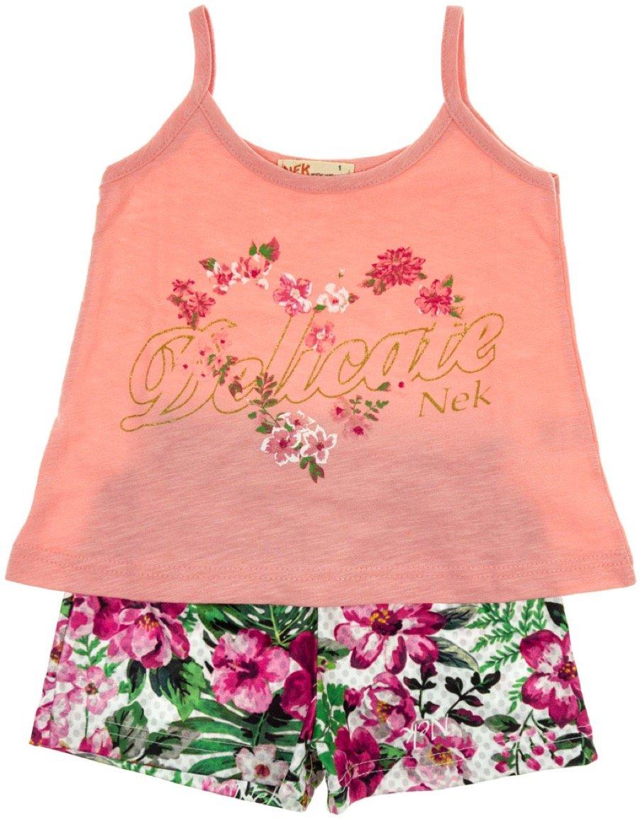Nek παιδικό σετ μπλούζα-παντελόνι σορτς «Delicate»