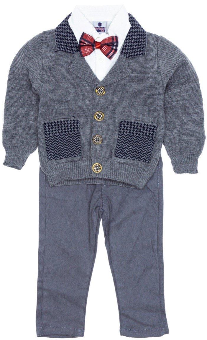 Pakel παιδικό αμπιγιέ σετ ζακέτα, πουκάμισο, παντελόνι «The Papigion»