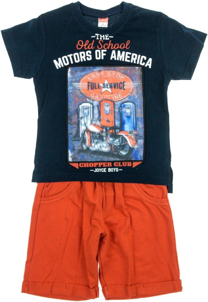 Joyce παιδικό σετ μπλούζα με φωτάκια & παντελόνι σορτς «Motors»